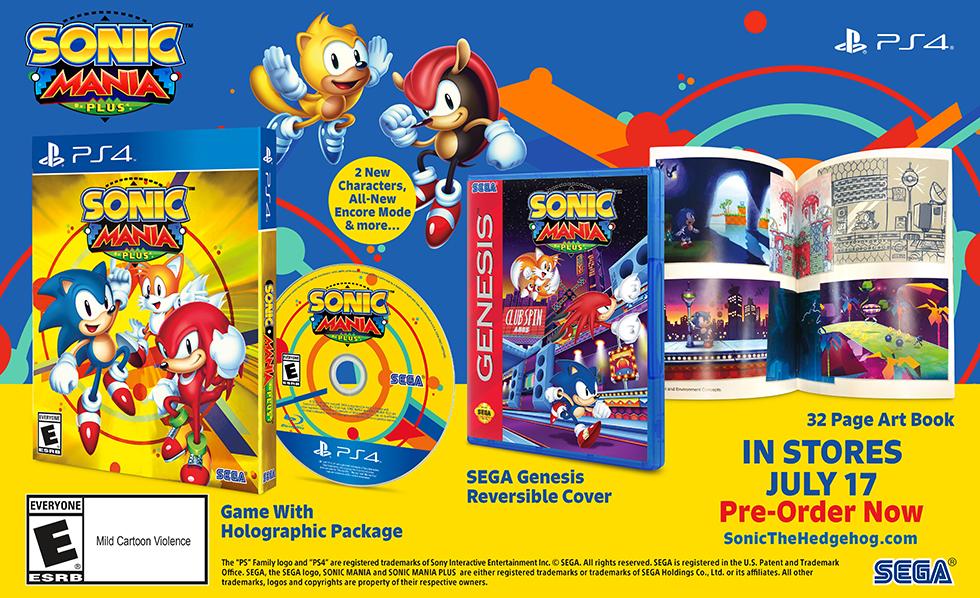 Sonic Mania Plus debutará a mediados de julio