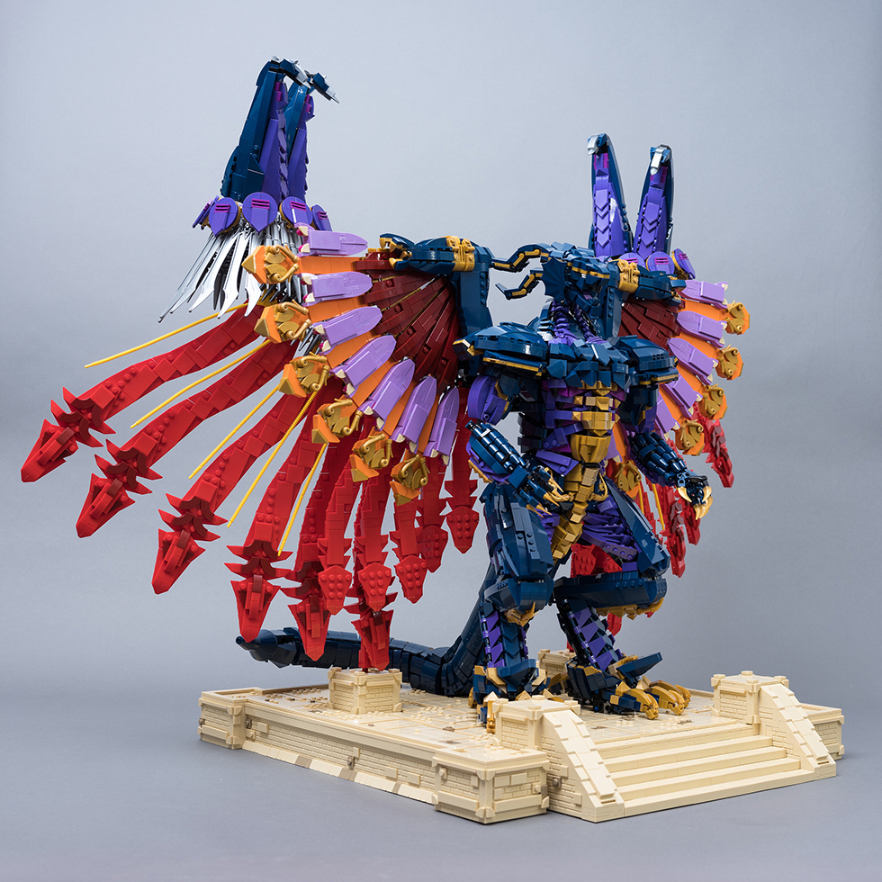 Estatua de Bahamut - LEGO