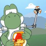 Death Stranding Yoshi's Island parodia
