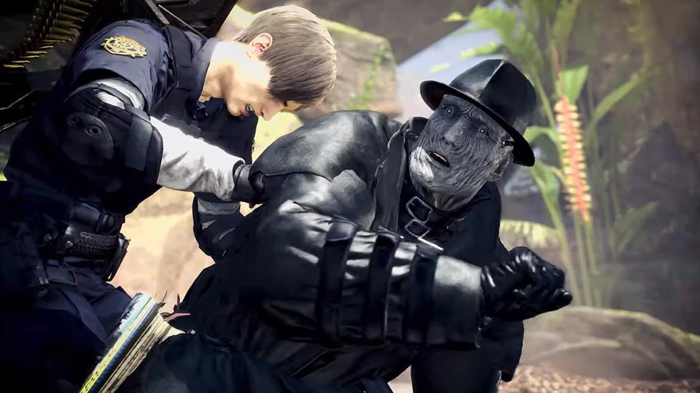 Monser Hunter World crossover Resident Evil 2
